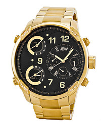 G4 18ct gold-plated & diamond watch