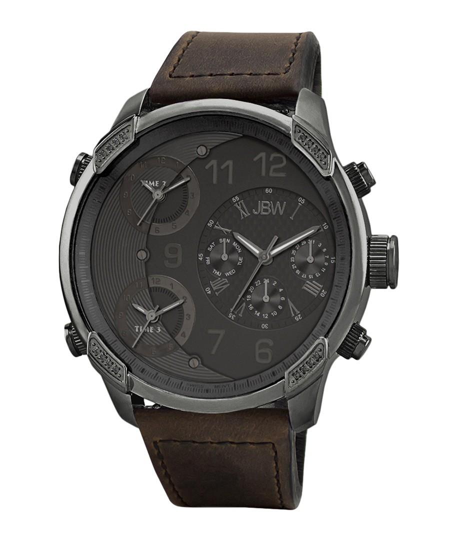 G4 gunmetal & diamond watch Sale - jbw