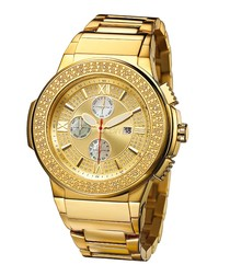 Saxon gold-tone stainless steel watch