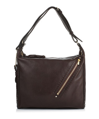 Lily brown leather bag