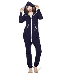 Original navy cotton blend onesie