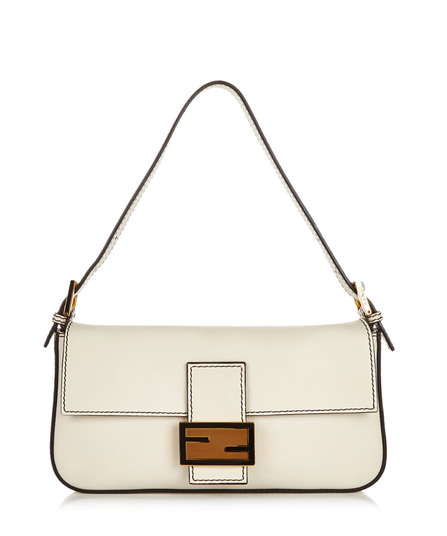 Baguette ivory leather shoulder bag Sale - fendi