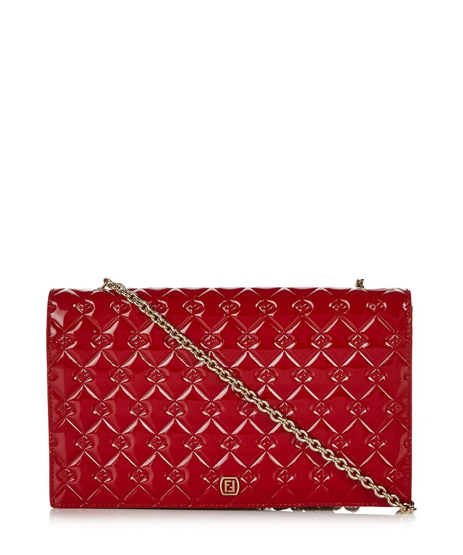 Red patent leather clutch Sale - fendi