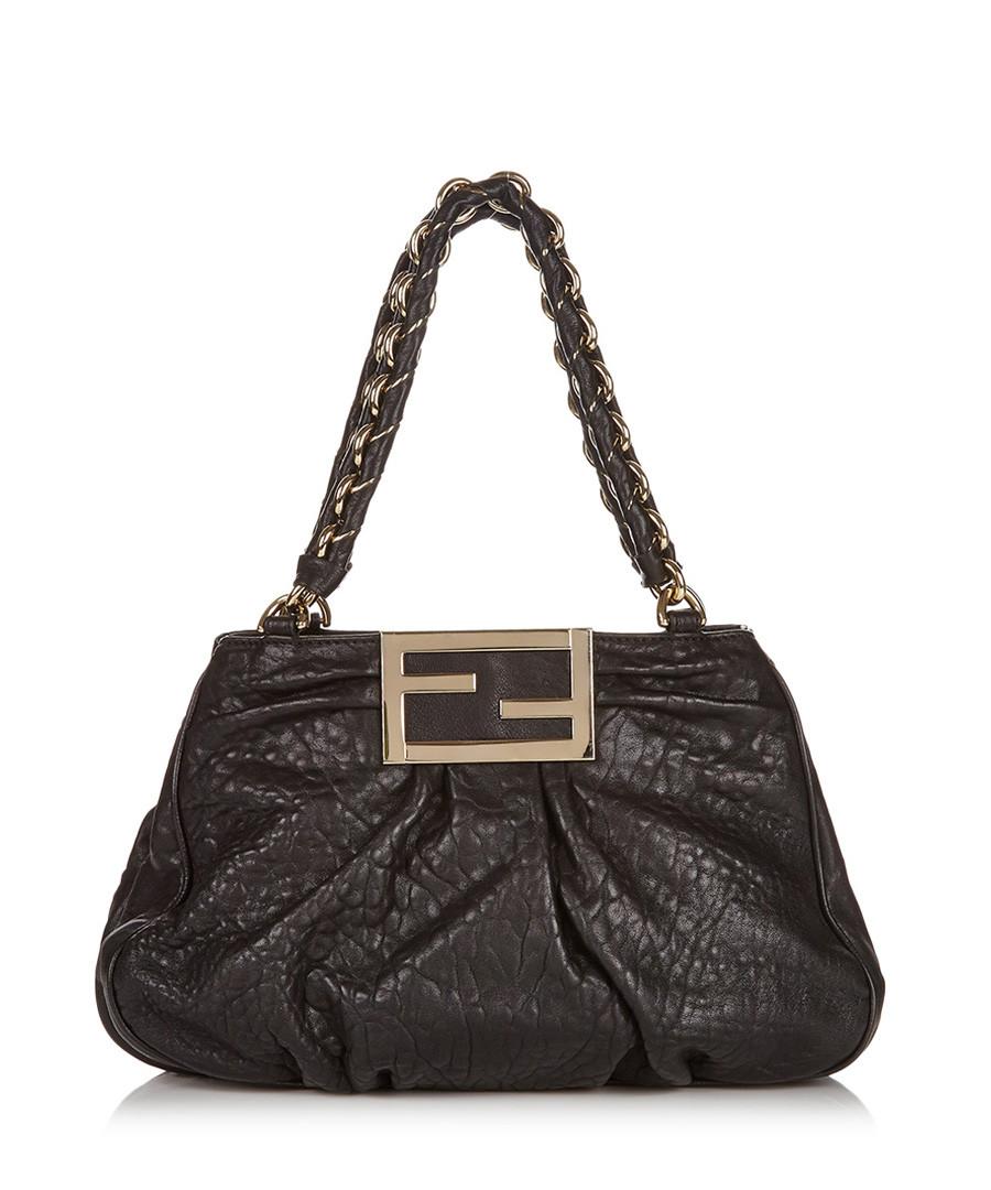 Mia black leather shoulder bag Sale - fendi