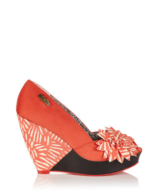 d1e5ec6c2 Greta coral peep-toe wedges Sale - Ruby Shoo Sale
