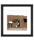 Hanging Zebra Stripes framed print 30cm Sale - banksy Sale