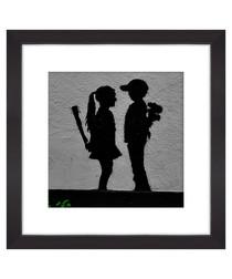 Boy Meets Girl framed print 30cm