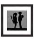 Boy Meets Girl framed print 30cm Sale - banksy Sale