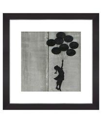 Hope Balloons framed print 30cm