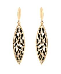 St. Clara gold-tone brass earrings