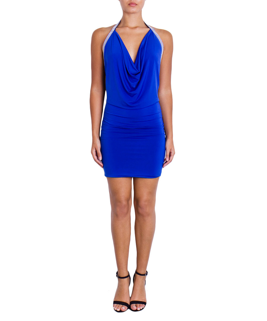 Maddison sax blue diamanté trim dress Sale - Forever Unique