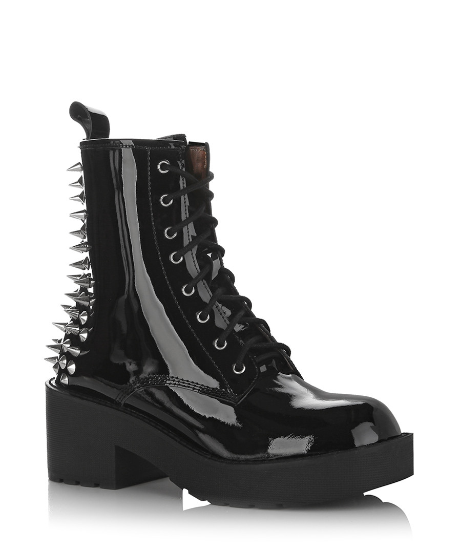 Discount 8th Street Leather Spike Boots Secretsales