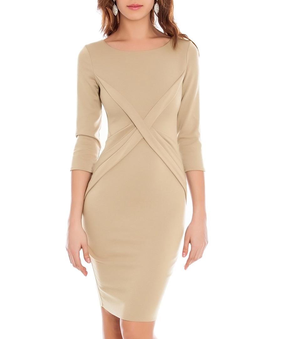 Stone cross-over dress Sale - GODDIVA