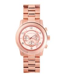Runway rose gold-tone chronograph watch