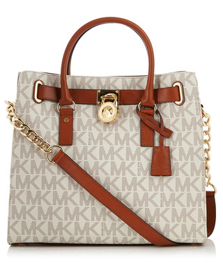 8175fcf92d25 Ivory leather perforated logo tote bag Sale - Michael Kors Sale