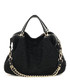 Black knitted lace leather slouch bag Sale - CANNCI Sale