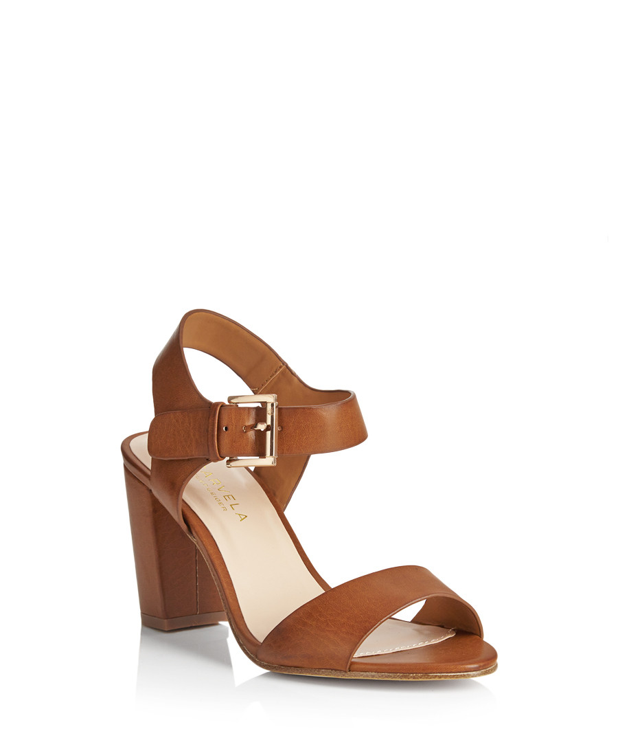 Discount Sadie Tan Block Heel Sandals Secretsales