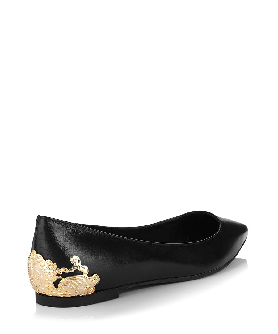 Secretsales Edge Discount Flats Ballerina Ada Black Leather 5Ywqx4Sz