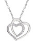 0.11ct diamond & silver heart necklace Sale - Josephs 1870 Sale