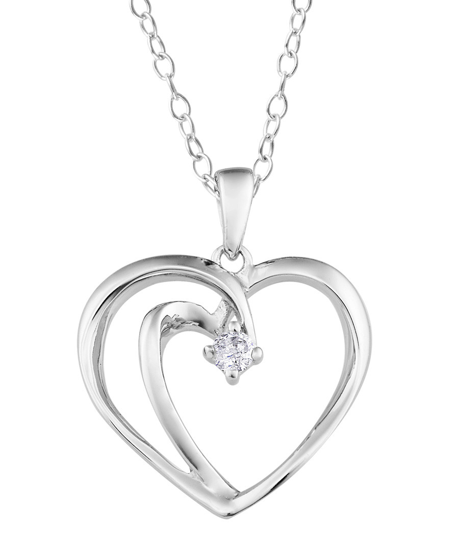 0.5ct diamond & silver heart necklace Sale - Josephs 1870