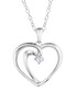 0.5ct diamond & silver heart necklace Sale - Josephs 1870 Sale