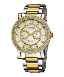 Two-tone diamond-set dial watch