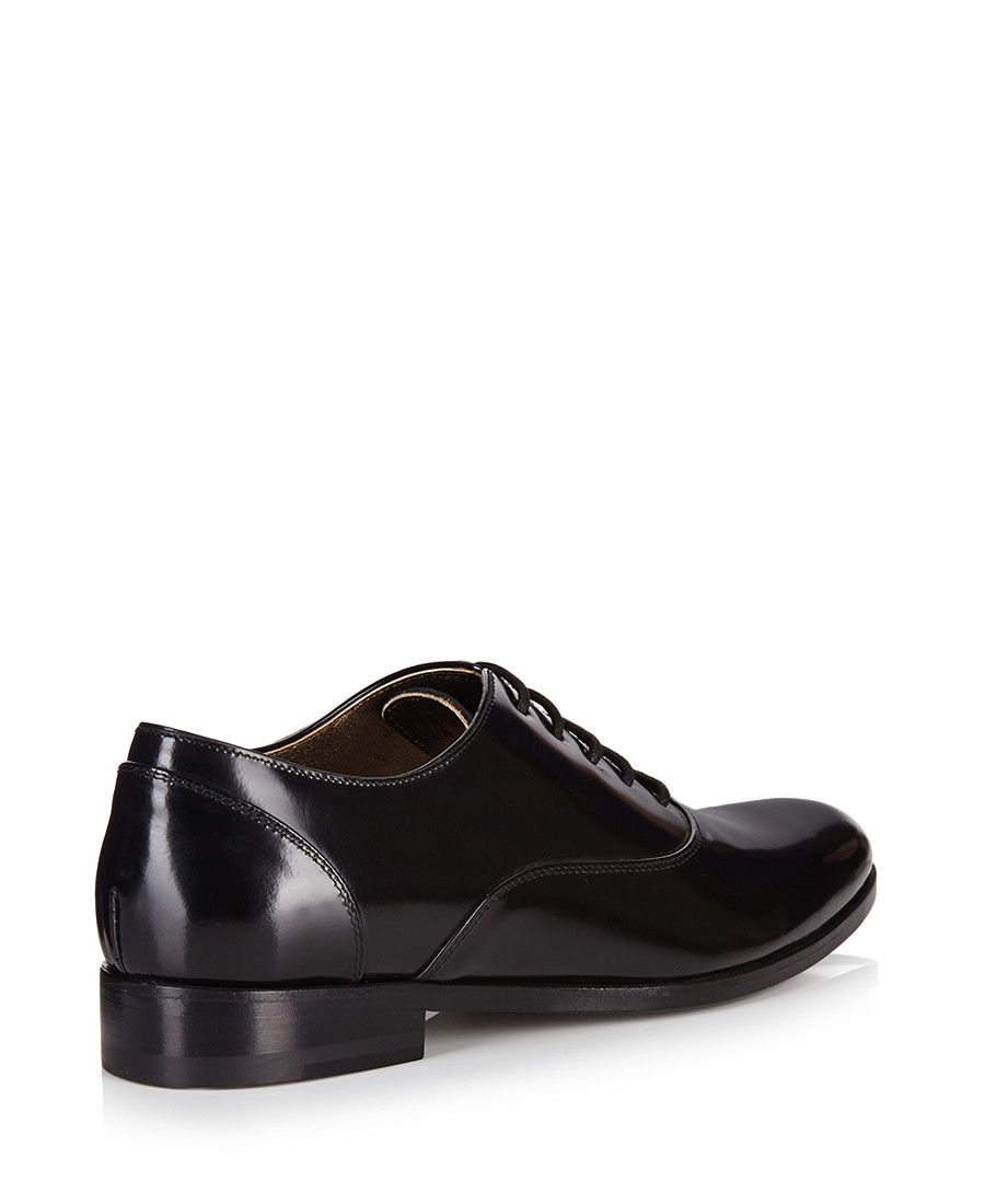 discount black high shine leather shoes secretsales