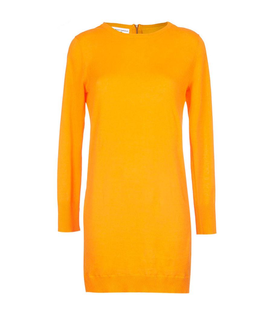 Orange cotton long-sleeved shift dress  Sale - Almost Famous