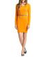 Orange cotton long-sleeved shift dress  Sale - Almost Famous Sale