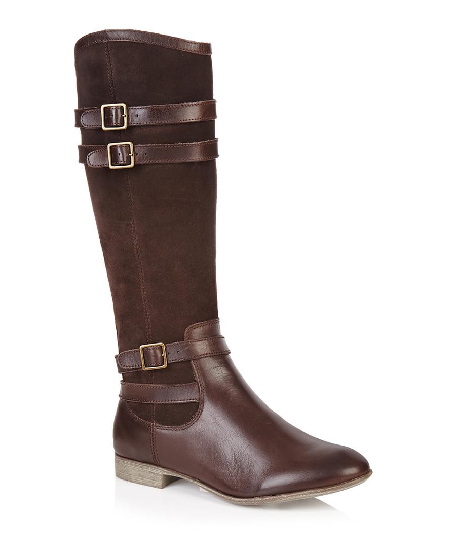 discount brown suede leather waterproof boots secretsales