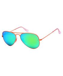 Aviator rose gold-tone sunglasses