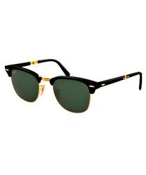 Folding Clubmaster black sunglasses