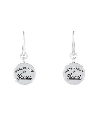 5862848bcc2 Women s engraved circle drop earrings Sale - Gucci Sale