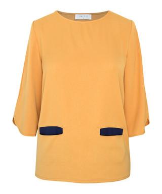 Orange   navy fitted top Sale - Paisie Sale 1a1dd7b21