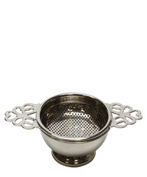 Silver-tone tea strainer