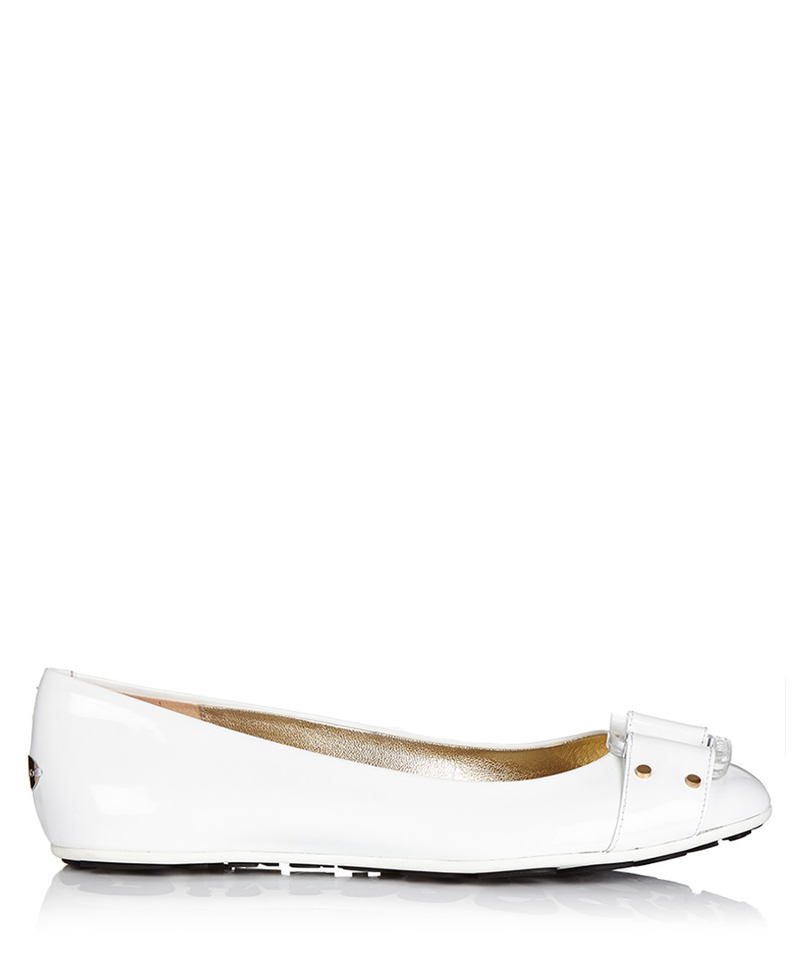 Women's Morse white leather flats Sale - jimmy choo