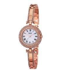 Rose gold-tone elegant tennis watch