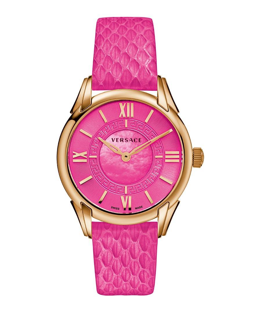 Dafne pink & rose gold-tone watch Sale - Versace
