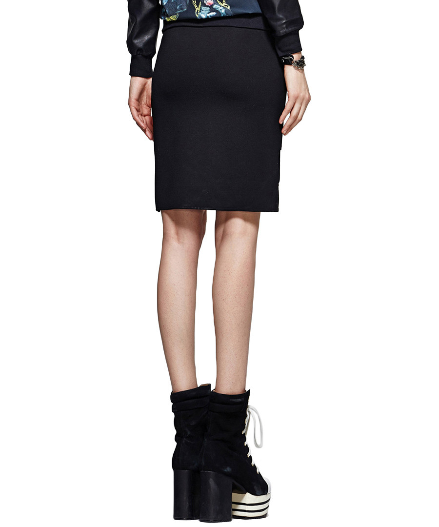 discount black layered pencil skirt secretsales