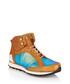 Vonnegut tan & blue leather high-tops Sale - MR. HARE Sale