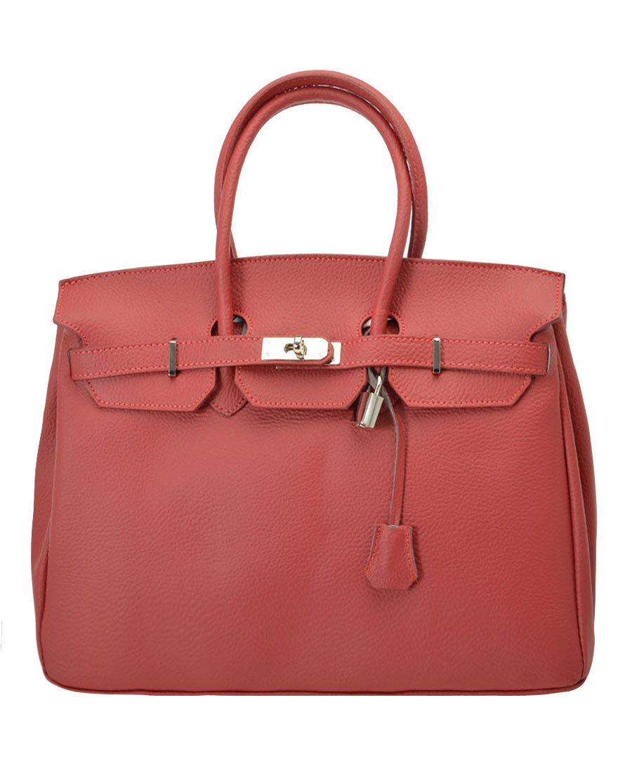 Amalia red leather tote bag Sale - Nero Valentino