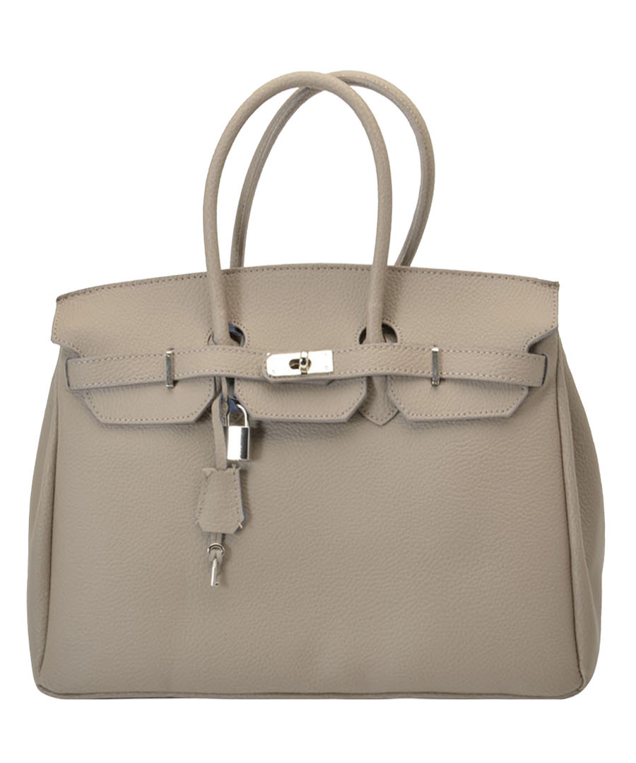 Amalia taupe leather tote bag Sale - Nero Valentino