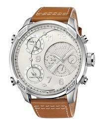G4 tan leather & diamond watch