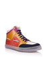Men's orange leather high-top sneakers Sale - gucci Sale