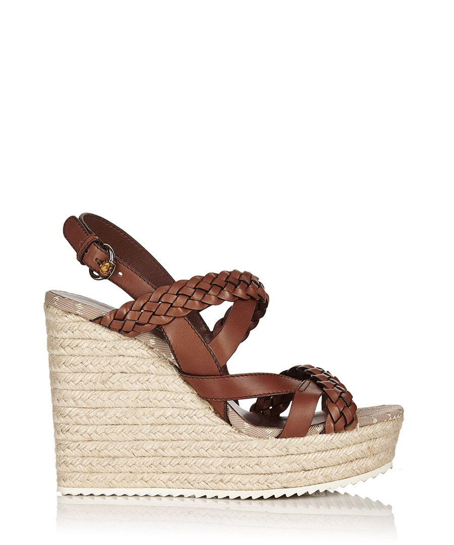 5f3720c0ede Women s braided leather platform wedges Sale - Gucci ...