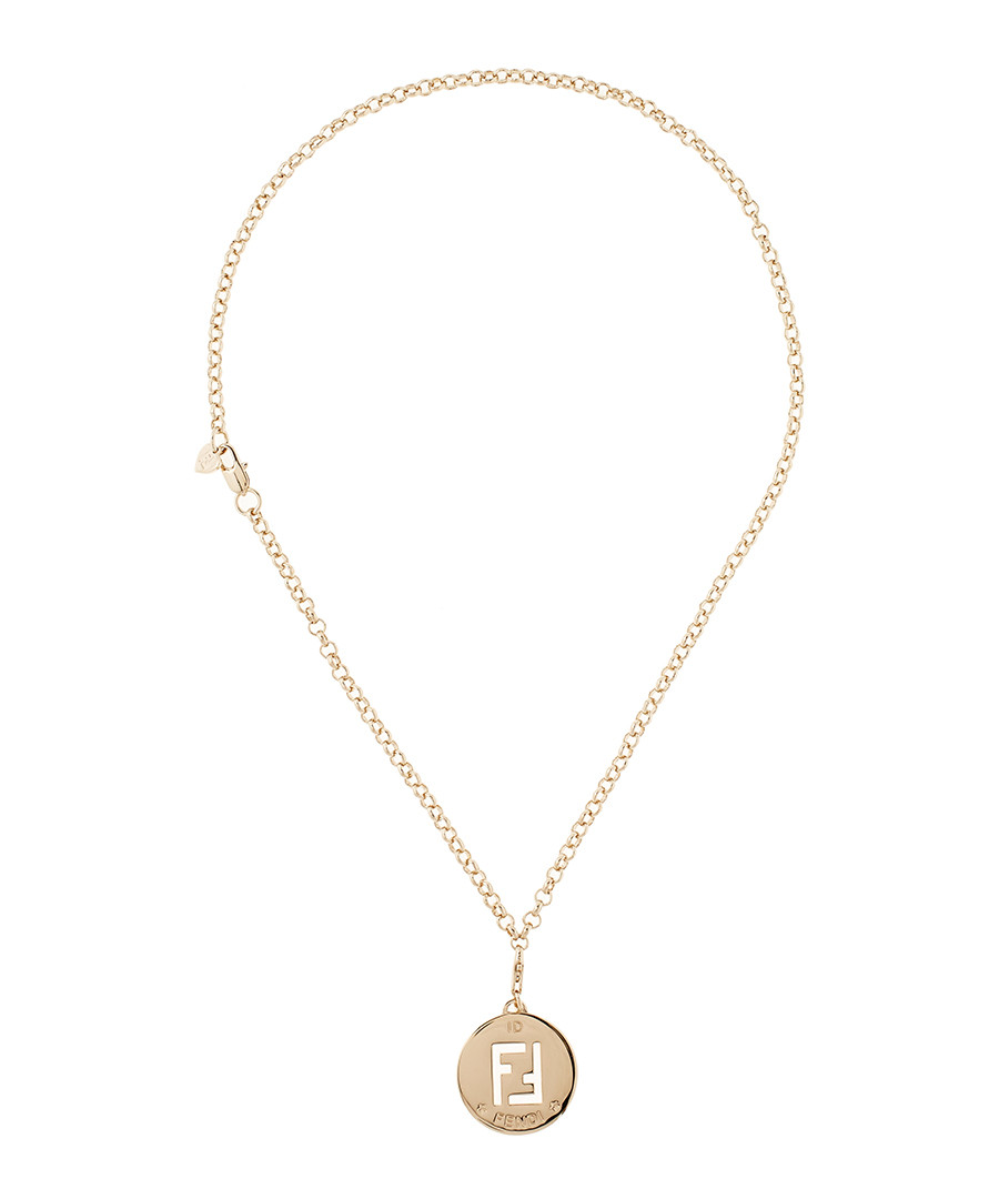 Discount 46cm gold tone cut out ff necklace secretsales 46cm gold tone cut out ff necklace sale fendi aloadofball Images