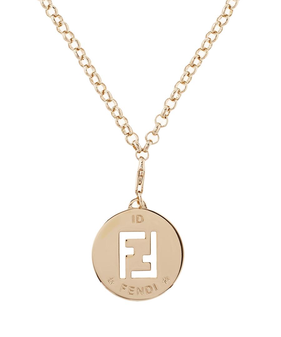 Discount 46cm gold tone cut out ff necklace secretsales 46cm gold tone cut out ff necklace sale fendi sale aloadofball Images