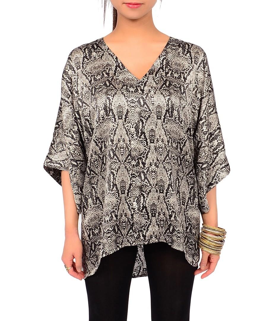 Maya satin silk snakeskin blouse Sale - amrita singh