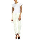 Pale yellow super skinny leggings