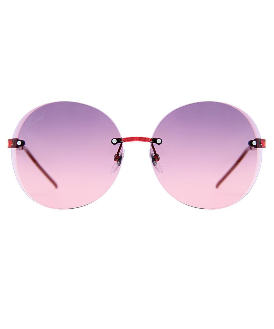 c3cb73f4a183 Purple   red round frame sunglasses Sale - Gucci